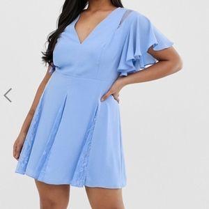 ASOS DESIGN Curve mini dress with godet lace